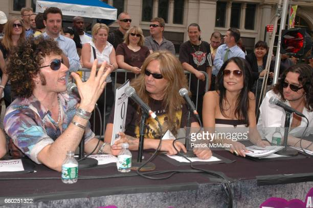 Paulie Z Sebastian Bach Bethenny Frankel and Constantine Maroulis attend IFC CELEBRATES SEASON 2 OF ROCK WITH AMERICA'S HOTTEST ROCKER MOM CONTEST at...