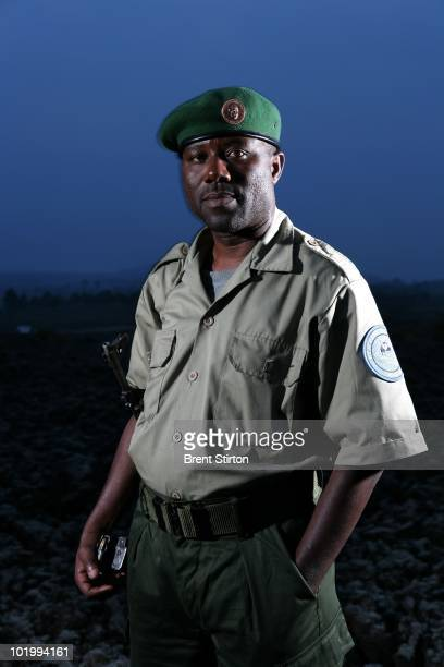 Paulin Ngobobo a Conservation Ranger from an AntiPoaching unit operating July 25 2007 in Virunga National Park Eastern Congo Ngobobo has been...