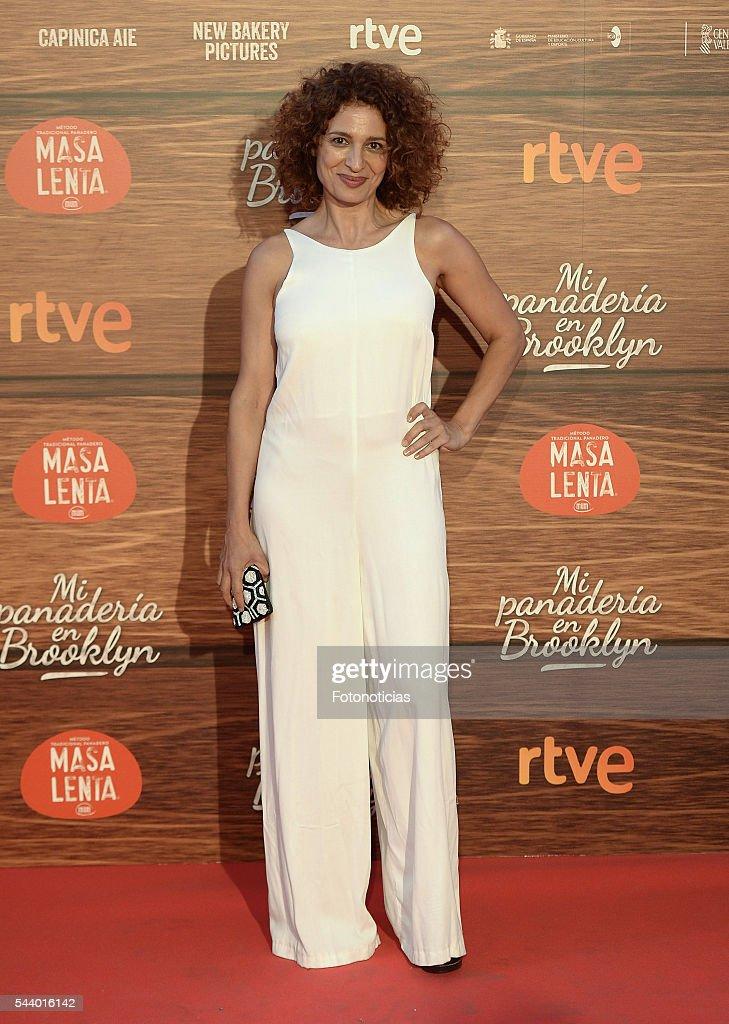 Paulina Galvez attends the 'Mi Panaderia de Brooklyn' premiere at Capitol cinema on June 30, 2016 in Madrid, Spain.