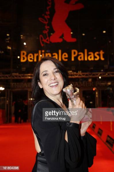 Paulina Garcia holds the Silver Bear for the best actress at the Closing Ceremony Red Carpet Arrivals BMW At The 63rd Berlinale International Film...