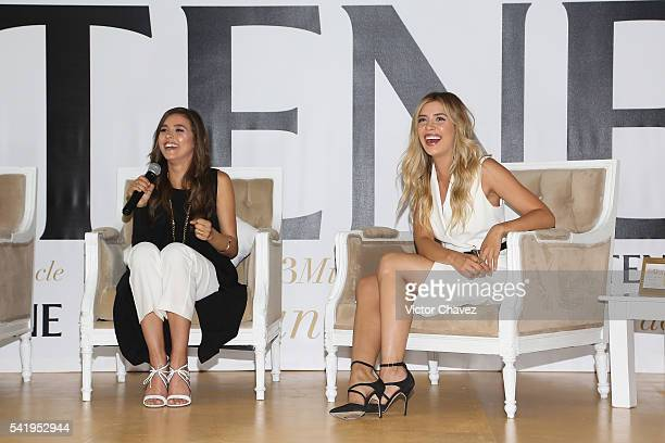 Paulina Goto and Michelle Salas attend the Pantene 3 Minute Miracle launch at Polanco on June 21 2016 in Mexico City Mexico