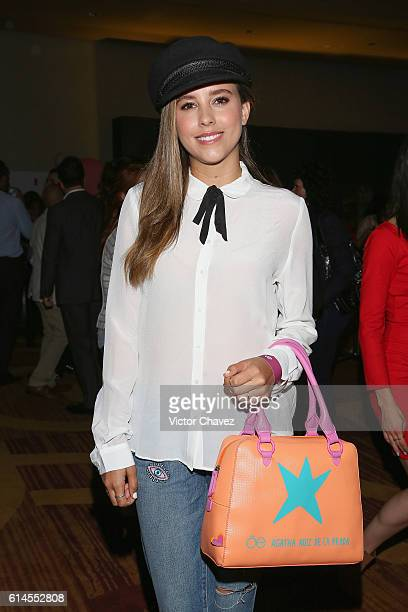 Paulina Goto attends the third day of MercedesBenz Fashion Week Mexico Spring/Summer 2017 at Maria Isabel Sheraton hotel on October 12 2016 in Mexico...