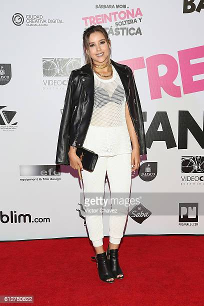 Paulina Goto attends the 'Treintona Soltera Y Fantastica' Mexico City premiere at Cinemex Antara Polanco on October 4 2016 in Mexico City Mexico