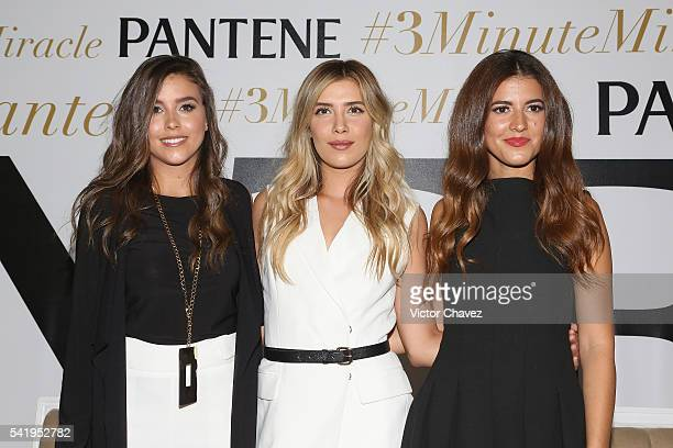 Paulina Goto Pamela Allier and Michelle Salas attend the Pantene 3 Minute Miracle launch at Polanco on June 21 2016 in Mexico City Mexico