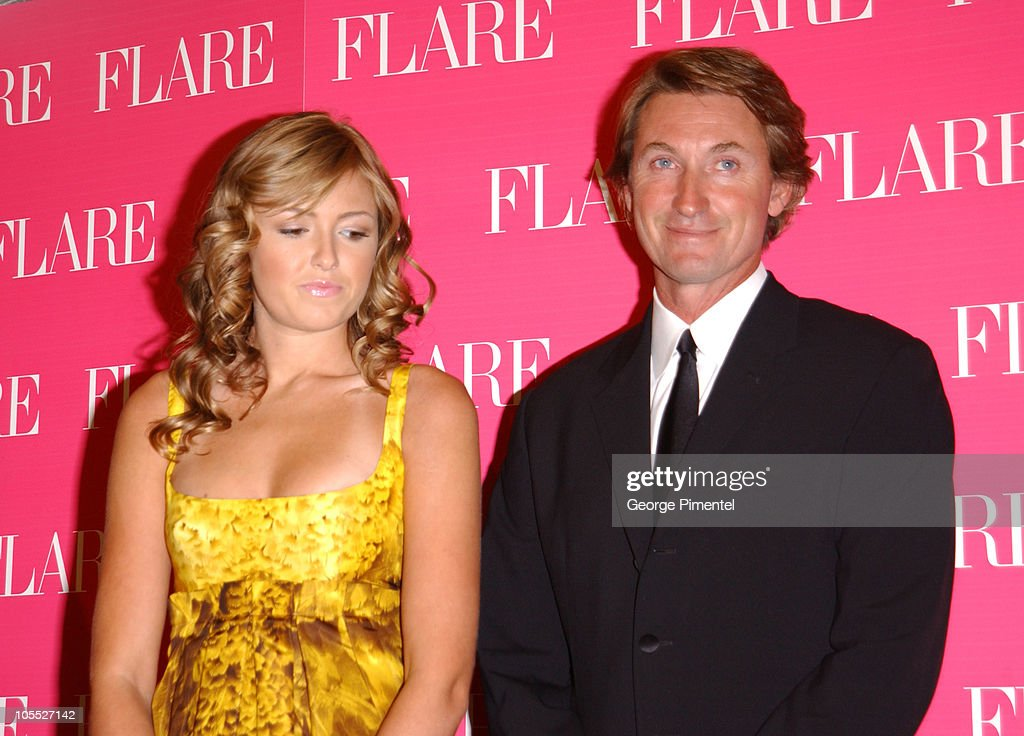 Paulina Gretzky and father Wayne Gretzky during Paulina and Wayne Gretzky at Flare Magazine Release Party at Wayne Gretzky's in Toronto Ontario Canada