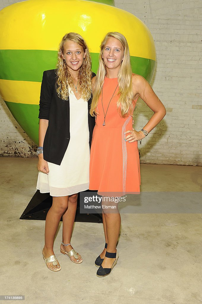 Paulina Keszler (L) and Lulu Keszler attend Hamptons Magazine celebrates an Evening of Banksy at Keszler Gallery on July 20, 2013 in Southampton, New York.