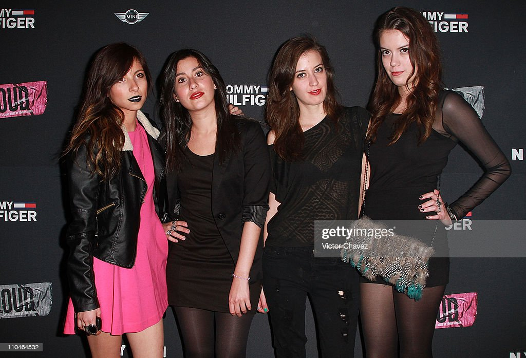 Paulina Rangel, Ilse Ogazon Ramos, Alexis Quijano and Ariadna Quijano attend the Nylon Mexico magazine 2nd anniversary party at Alameda Poniente on March 16, 2011 in Mexico City, Mexico.