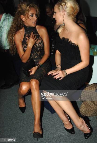Paulina Rubio and Ashlee Simpson during 2005 MTV Video Music Awards Audience and Backstage at American Airlines Arena in Miami Florida United States