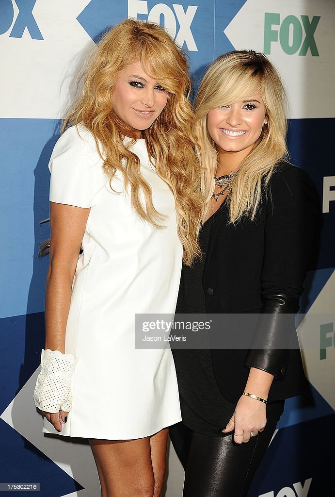Paulina Rubio and Demi Lovato attend the FOX All-Star Party on August 1, 2013 in West Hollywood, California.