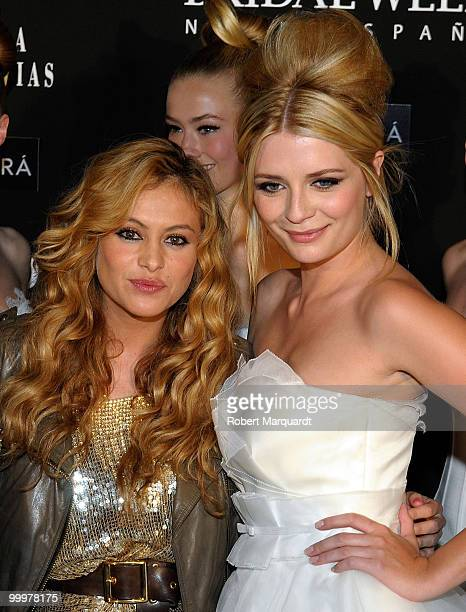 Paulina Rubio and Mischa Barton attend the backstage photocall for Rosa Clara's latest bridal collection 2011 at the Fira 2 Barcelona on May 18 2010...