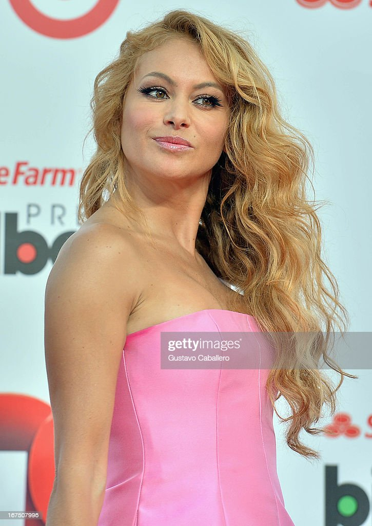 Paulina Rubio arrives at Billboard Latin Music Awards 2013 at Bank United Center on April 25, 2013 in Miami, Florida.