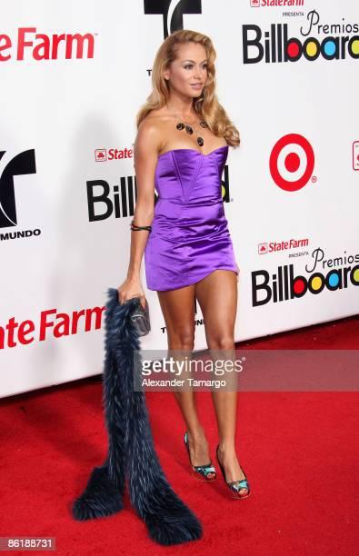 Paulina Rubio arrives at the 2009 Billboard Latin Music Awards at Bank United Center on April 23 2009 in Miami Florida
