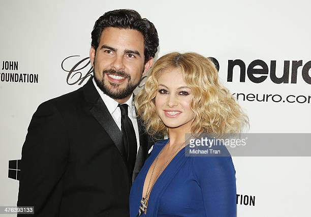 Paulina Rubio arrives at the 22nd Annual Elton John AIDS Foundation's Oscar viewing party held on March 2 2014 in West Hollywood California