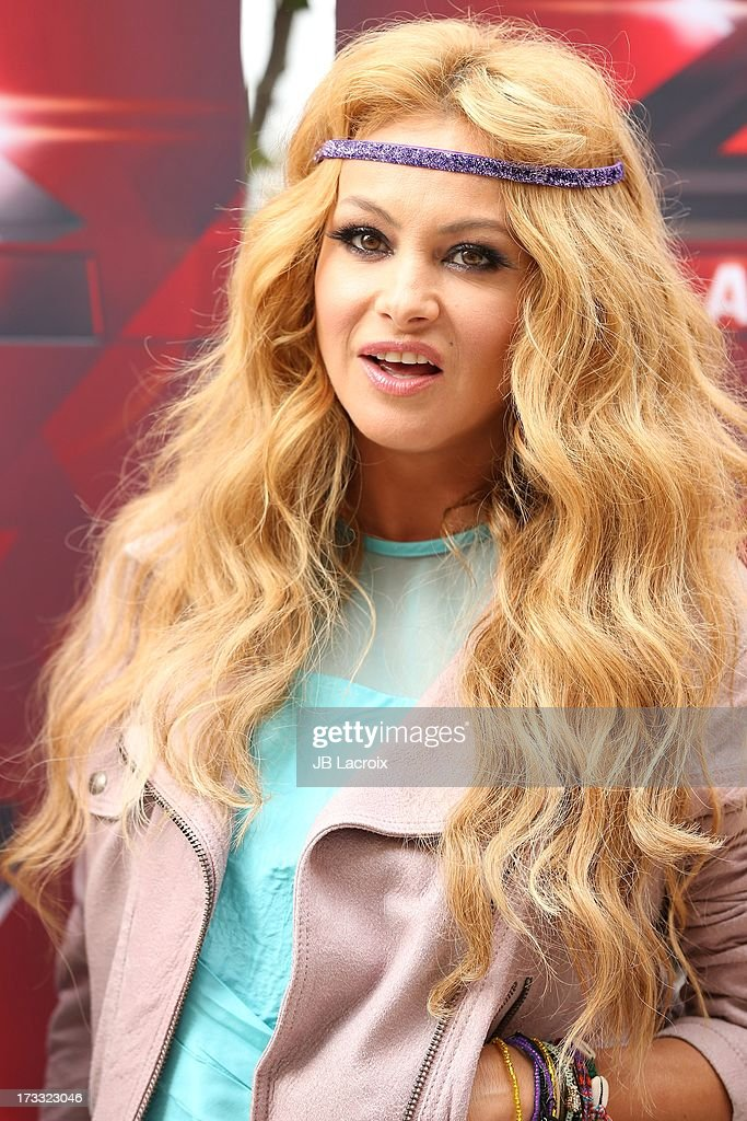 Paulina Rubio attends Fox's 'The X Factor' Judges at Galen Center on July 11, 2013 in Los Angeles, California.