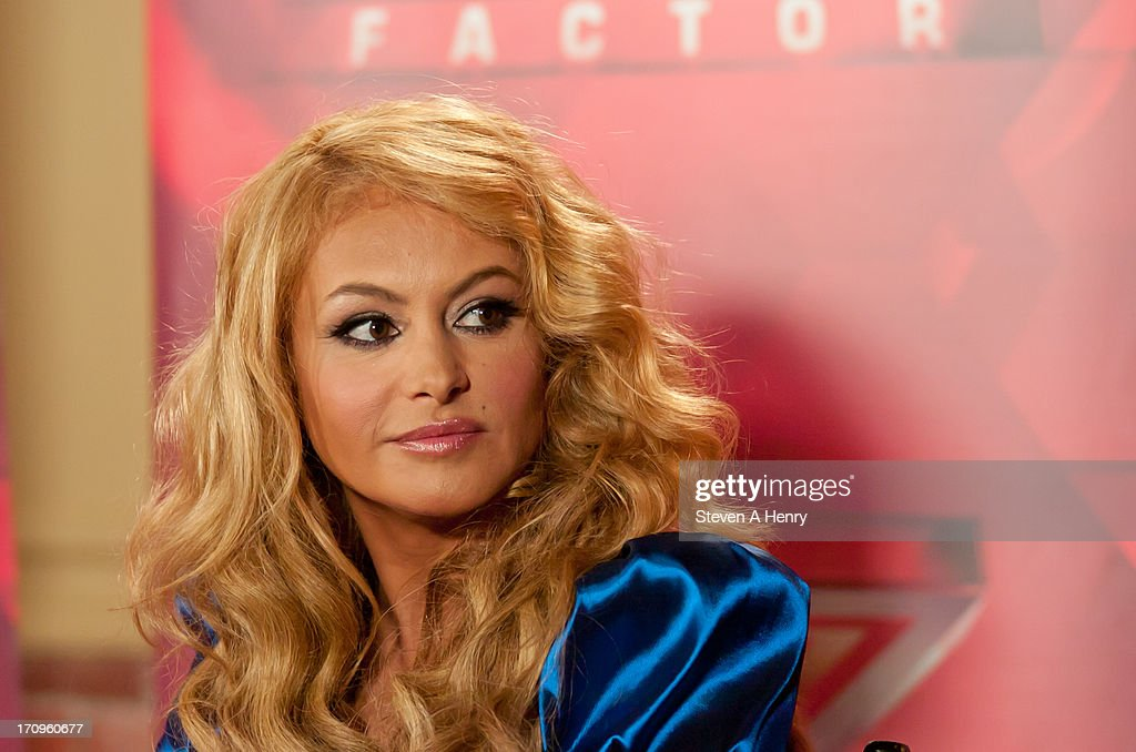 <a gi-track='captionPersonalityLinkClicked' href=/galleries/search?phrase=Paulina+Rubio&family=editorial&specificpeople=201804 ng-click='$event.stopPropagation()'>Paulina Rubio</a> attends the 'The X Factor' Judges press conference at Nassau Veterans Memorial Coliseum on June 20, 2013 in Uniondale, New York.