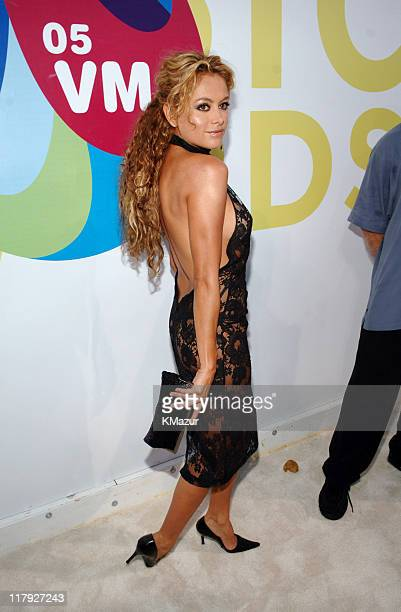 Paulina Rubio during 2005 MTV Video Music Awards White Carpet at American Airlines Arena in Miami Florida United States