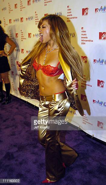 Paulina Rubio during MTV Video Music Awards Latin America 2004 Red Carpet at Jackie Gleason Theater in Miami Florida United States