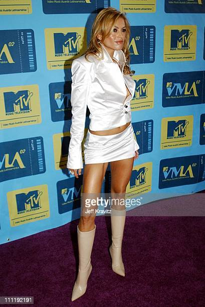 Paulina Rubio during MTV Video Music Awards Latinoamerica 2002 Arrivals at Jackie Gleason Theater in Miami FL United States