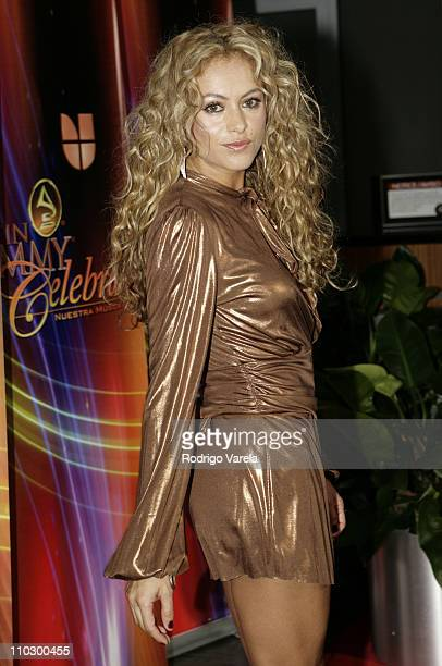 Paulina Rubio during The 7th Annual Latin GRAMMY Awards Celebra Nuestra Musica Arrivals at Univision Studios in Miami Florida United States