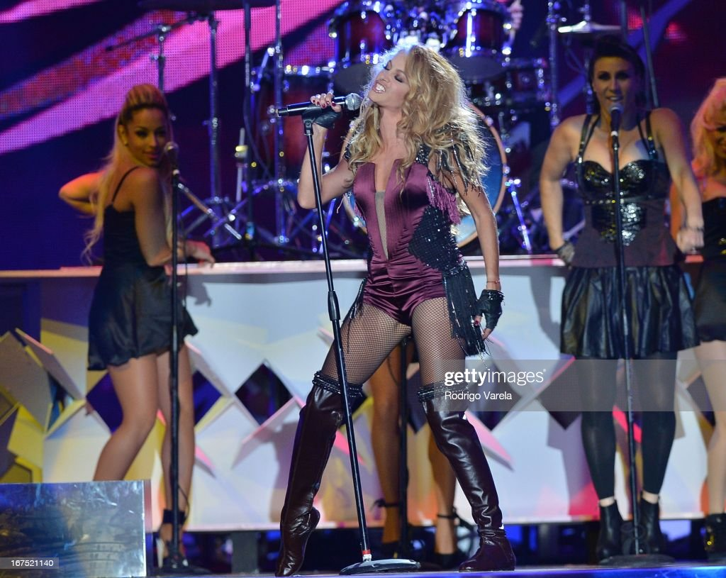 Paulina Rubio performs at Billboard Latin Music Awards 2013 at Bank United Center on April 25, 2013 in Miami, Florida.