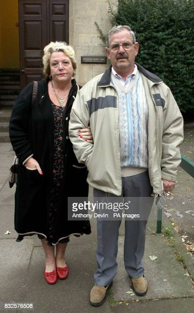 Pauline and Tom Franklin arrive at Gloucester Crown Court after former Royal British Legion vicechairman Edward Portlock stole money from them