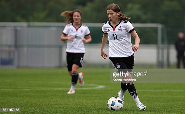 Pauline Berning of Germany during the International Friendly match between U15 Girls Germany and U15 Girls Czech Republic at Auenstadion on May 24...
