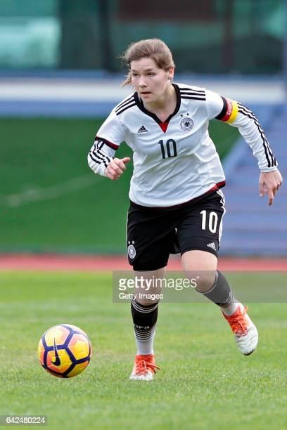 Pauline Berning of Germany U16 Girls during the match between U16 Girls Portugal v U16 Girls Germany on the UEFA International Development Tournament...