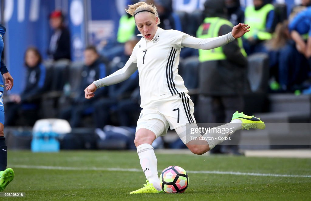 Pauline Bremer #7 of Germany in action during the France Vs Germany SheBelieves Cup International match at Red Bull Arena on March 4, 2017 in Harrison, New Jersey.