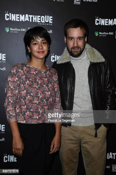 Pauline Caupenne and Gregoire LeprinceRinguet attend the 'Happy End' Paris Premiere at la cinematheque on September 18 2017 in Paris France