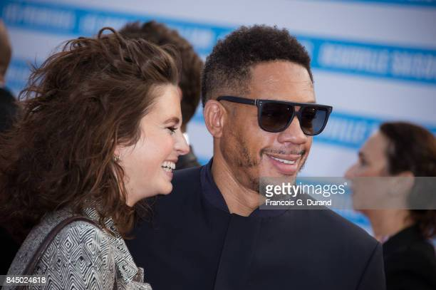 Pauline Cheviller and Joey Starr arrive at the closing ceremony of the 43rd Deauville American Film Festival on September 9 2017 in Deauville France