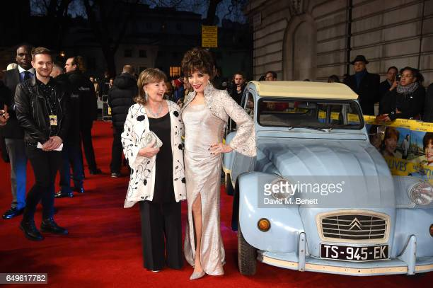 Pauline Collins and Joan Collins attend the World Premiere of 'The Time Of Their Lives' at The Curzon Mayfair on March 8 2017 in London England