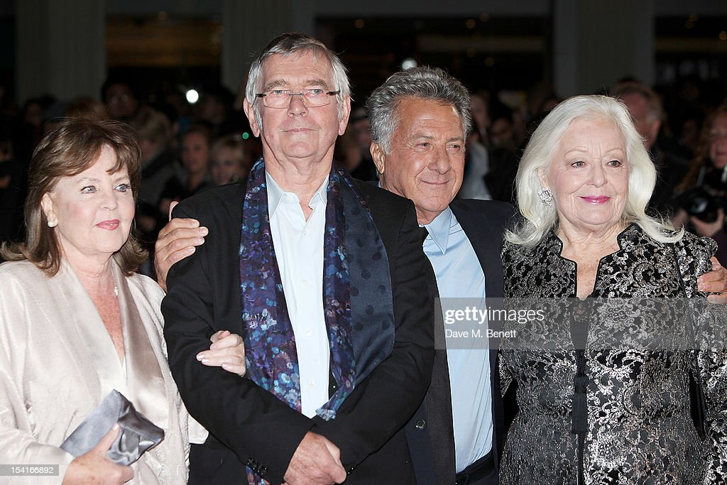 Pauline Collins, Tom Courtenay, director Dustin Hoffman and Dame Gwyneth Jones attend the Premiere of 'Quartet' during the 56th BFI London Film Festival at Odeon Leicester Square on October 15, 2012 in London, England.