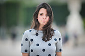 Pauline Darris is wearing a Vanessa Bruno dress during a street style session on June 07 2016 in Paris