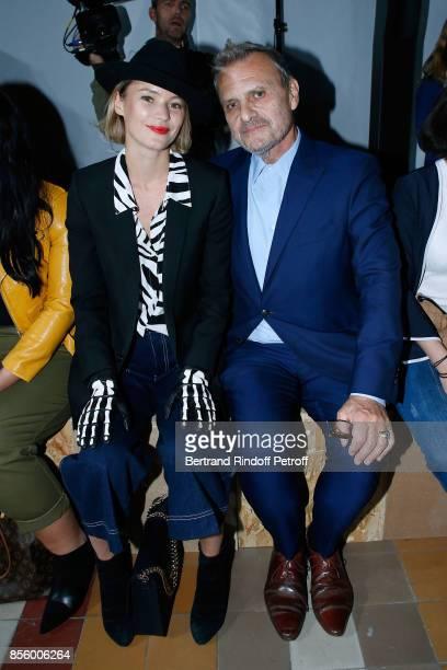 Pauline de Drouas and JeanCharles de Castelbajac attend the Sonia Rykiel show as part of the Paris Fashion Week Womenswear Spring/Summer 2018 on...