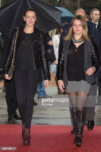 Pauline Ducruet and Camille Gottlieb attend the 38th International Circus Festival on January 19 2014 in MonteCarlo Monaco