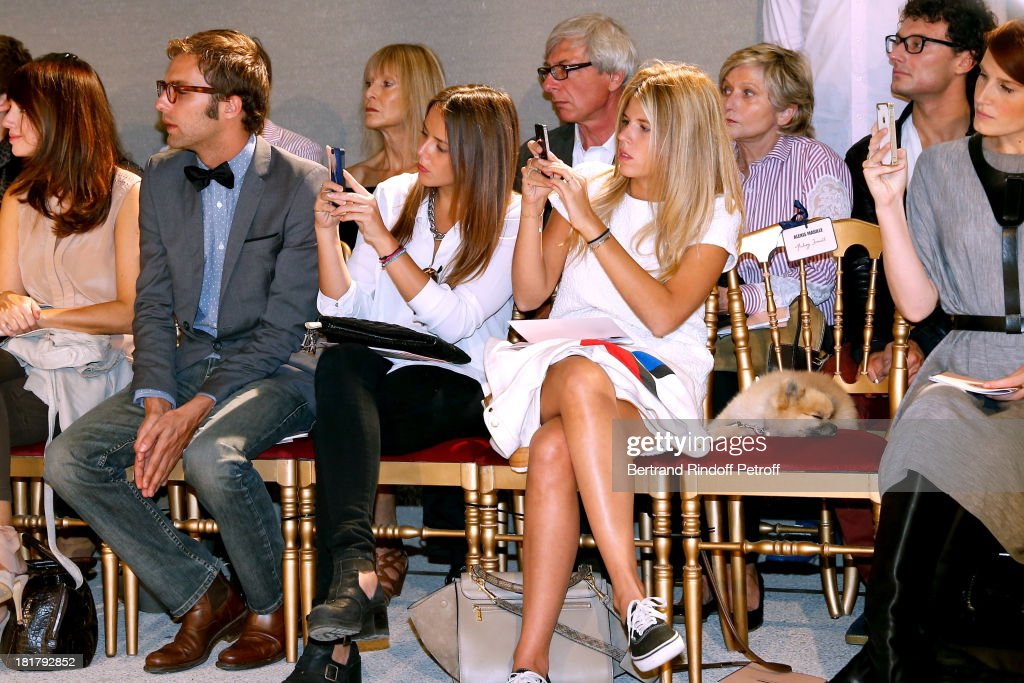 <a gi-track='captionPersonalityLinkClicked' href=/galleries/search?phrase=Pauline+Ducruet&family=editorial&specificpeople=2084053 ng-click='$event.stopPropagation()'>Pauline Ducruet</a> (L) and her friend Margot with her dog Gizmo attend Alexis Mabille show as part of the Paris Fashion Week Womenswear Spring/Summer 2014 at Docks en Seine on September 25, 2013 in Paris, France.