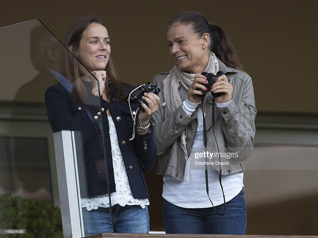 <a gi-track='captionPersonalityLinkClicked' href=/galleries/search?phrase=Pauline+Ducruet&family=editorial&specificpeople=2084053 ng-click='$event.stopPropagation()'>Pauline Ducruet</a> and her mother Princess Stephanie look at the players at World Stars Match MC on May 22, 2012 in Monaco, Monaco.