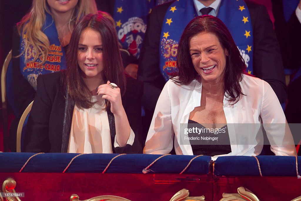 Pauline Ducruet and Princess Stephanie attend the opening of Monte-Carlo 36th International Circus Festival on January 19, 2012 in Monte-Carlo, Monaco.