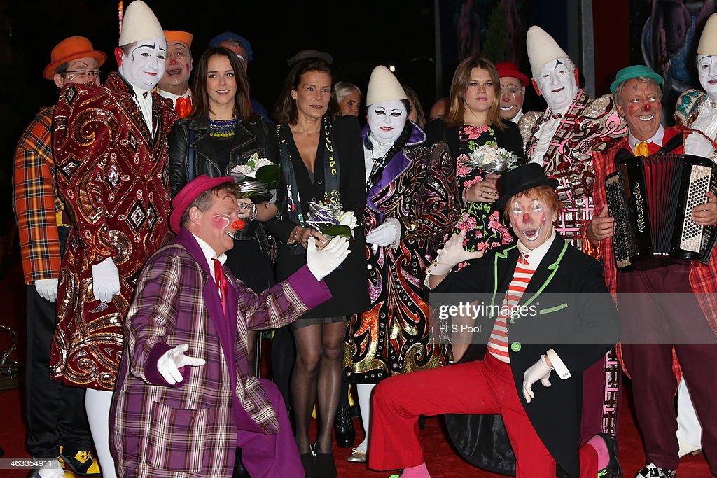Pauline Ducruet and Princess Stephanie of Monaco attend the 38th International Circus Festival on January 17 2014 in MonteCarlo Monaco
