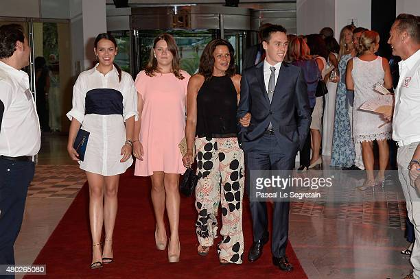 Pauline Ducruet Camille Gottlieb Princess Stephanie of Monaco and Louis Ducruet attend the Fight Aids Charity Gala In MonteCarlo on July 10 2015 in...