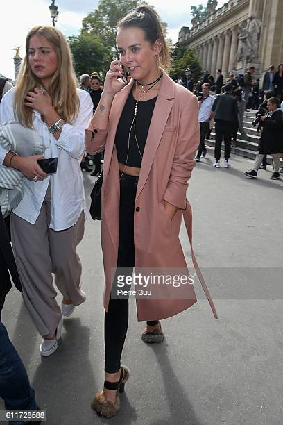 Pauline Ducruet leaves the Mugler show as part of the Paris Fashion Week Womenswear Spring/Summer 2017 on October 1 2016 in Paris France