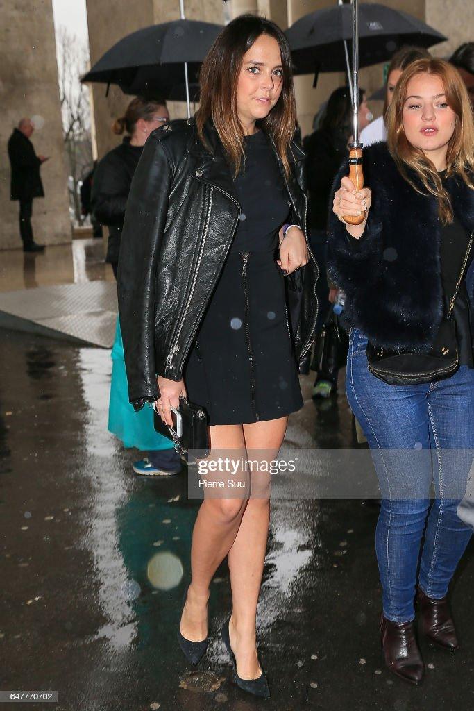Pauline Ducruet leaves the Mugler show as part of the Paris Fashion Week Womenswear Fall/Winter 2017/2018 on March 4, 2017 in Paris, France.