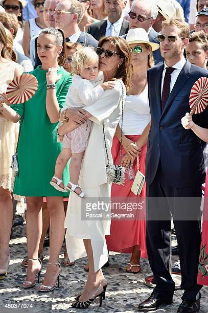 Pauline Ducruet Princess Caroline of Hanover and Andrea Casiraghi attend the First Day of the 10th Anniversary on the Throne Celebrations on July 11...
