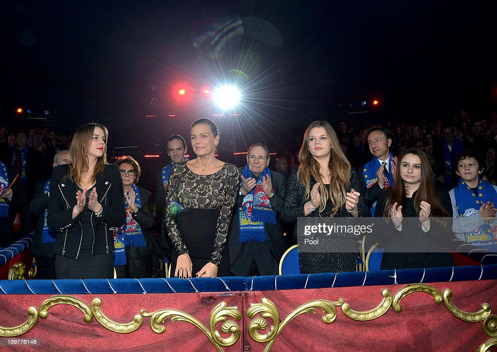 Pauline Ducruet, Princess Stephanie of Monaco and Camille Gotlieb attend day three of the Monte-Carlo 37th International Circus Festival on January 19, 2013 in Monte-Carlo, Monaco.