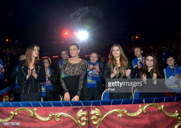Pauline Ducruet Princess Stephanie of Monaco and Camille Gotlieb attend day three of the MonteCarlo 37th International Circus Festival on January 19...