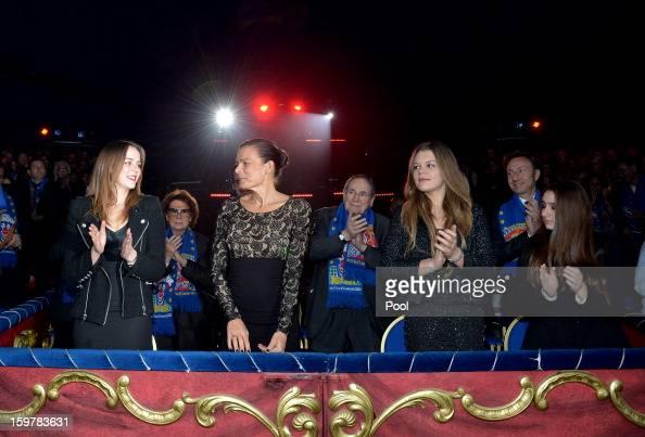 Pauline Ducruet Princess Stephanie of Monaco and Camille Gotlieb attend day three of the MonteCarlo 37th International Circus Festival on January 19...