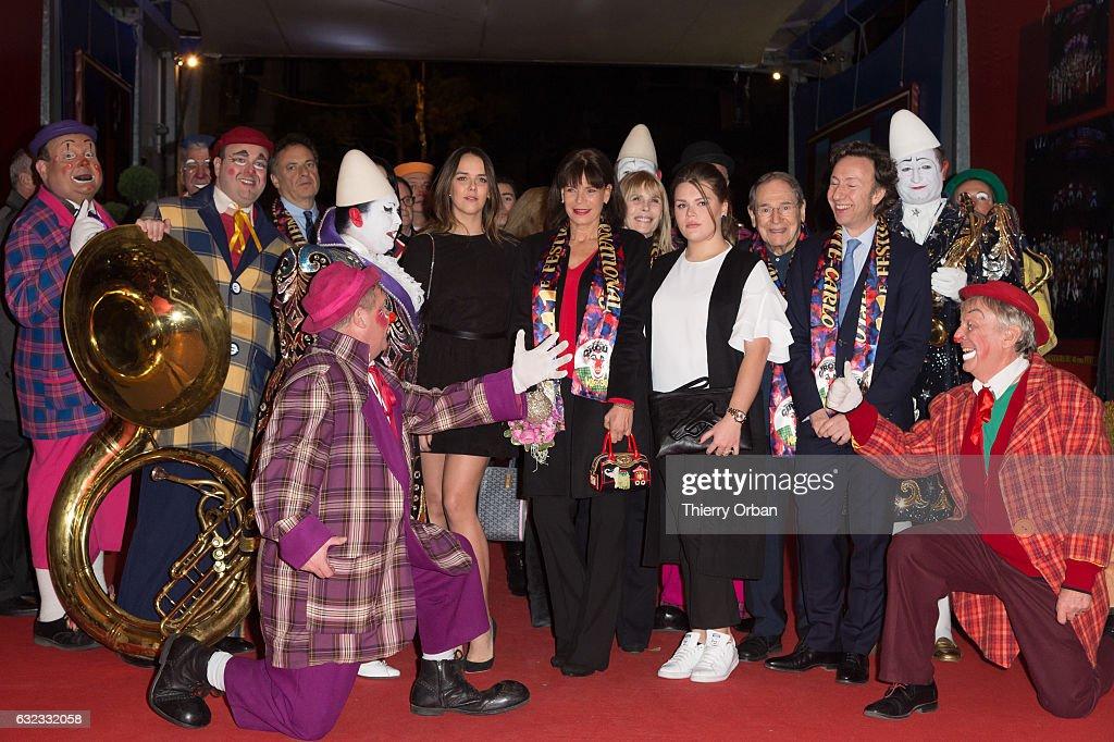 Pauline Ducruet, Princess Stephanie of Monaco, and Camille Gottlieb and Stephane Bern attend the 41th Monte-Carlo International Circus Festival on January 21, 2017 in Monaco, Monaco.