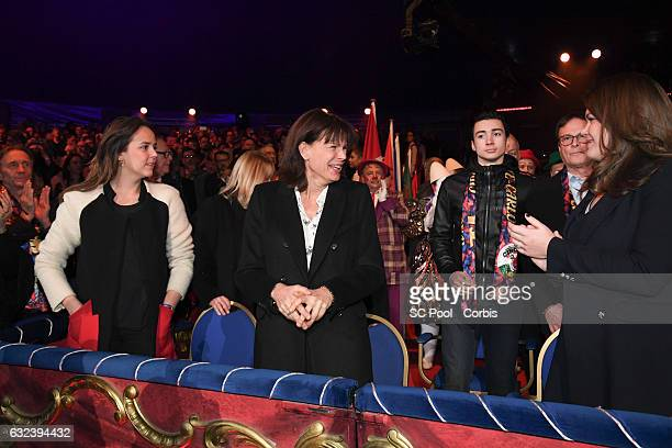 Pauline Ducruet Princess Stephanie of Monaco and Camille Gottlieb attend the 41st MonteCarlo International Circus Festival on January 22 2017 in...