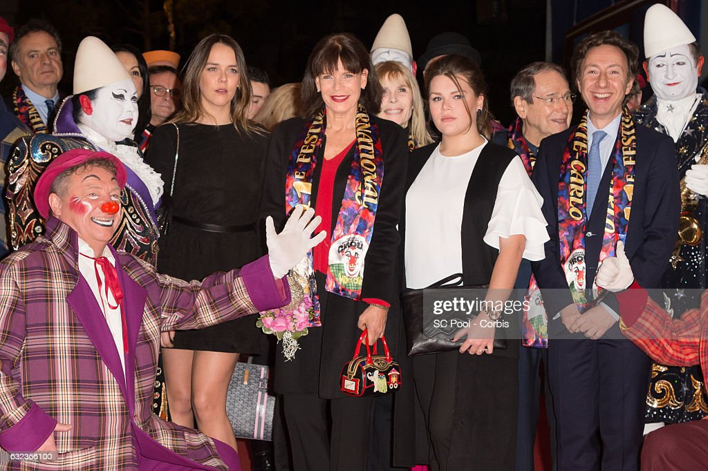 Pauline Ducruet, Princess Stephanie of Monaco, Camille Gottlieb, Robert Hossein and Stephane Bern attend the 41th Monte-Carlo International Circus Festival on January 21, 2017 in Monaco, Monaco.