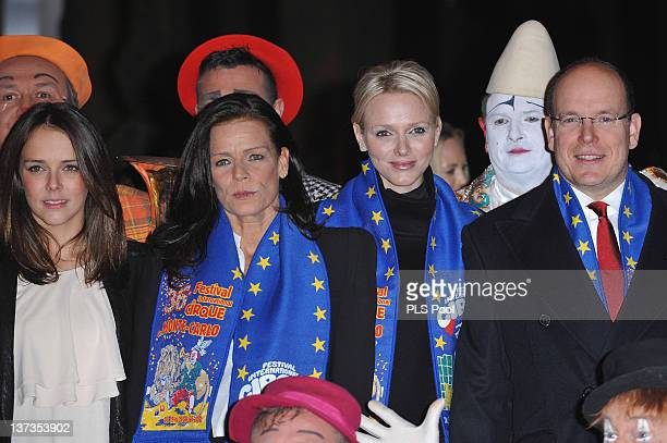 Pauline Ducruet Princess Stephanie of Monaco Princess Charlene of Monaco and Prince Albert II of Monaco attend the opening ceremony of the MonteCarlo...